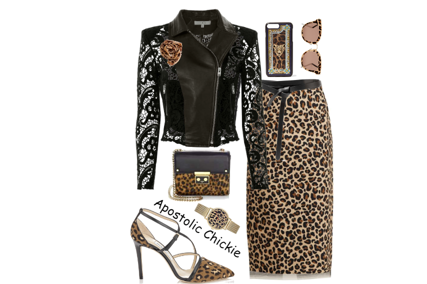 df8b9cb529a9 Fashmates Outfit Inspiration: Leopard Leather And Lace